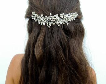 Wedding Headpiece Bridal hairpiece bridal halo back of head  Bridal Hair Accessories Bridal Hair Accessory,Pearl headpiece,Crystal headpiece
