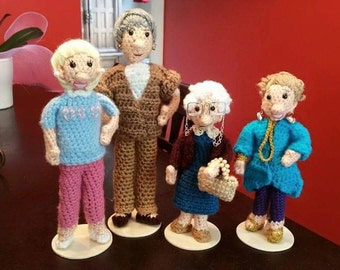 Golden Girls Amigurumi Dolls