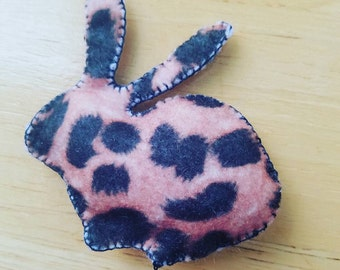 Leopard Rabbit Catnip Toy