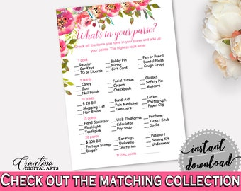 What's In Your Purse Bridal Shower What's In Your Purse Spring Flowers Bridal Shower What's In Your Purse Bridal Shower Spring Flowers UY5IG