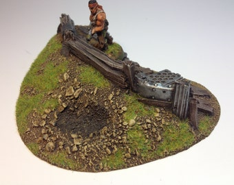 28mm 40k Small Unpainted Barricade Resin Defense Line Trench Terrain Scenery Wargaming
