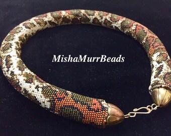 """Necklace """"Leopard Royal Python"""""""