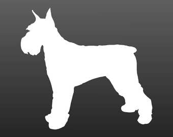 Schnauzer Vinyl Decal Car Window Laptop Dog Silhouette Sticker