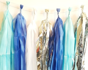 Blue & Silver Tassel Garland Kit
