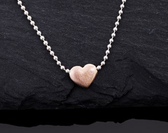 Listen to me, sweetheart. Necklace with 585er red gold heart//necklace Gold//Valentine's Day gift//Love statement//Gifts for women//Love