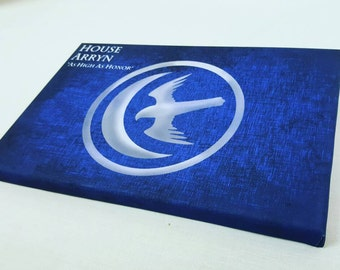 """House Arryn Game Of Thrones A4 Size Canvas With Quote """"As High as Honor"""""""