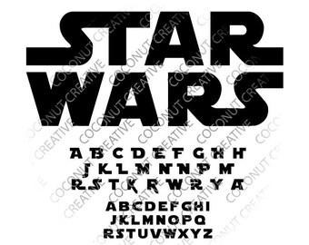 Star Wars Font svg dfx jpg jpeg eps layered cut cutting files cricut silhouette die cut decal vinyl