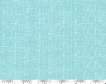 "SALE by the yard 108"" Lulu Lane Woven Quilt Backs - Turquoise 108"" Wide Backing Fabric by Corey Yoder for Moda Fabrics - Sold by 1 Yard"