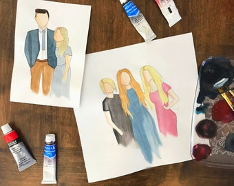 Custom cartoon watercolor