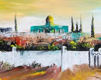 Islamic Wall Art, Islamic art, Religiuos wall art, Islamic Wall Decor,  Dome Of The Rock, Al Aqsa Mosque, Religious Gifts, Spiritandart