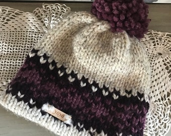 Knitted Fair Isle Double Brimmed