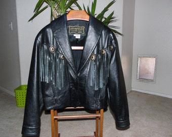 Vintage Fan.dang.go Leather bike jacket