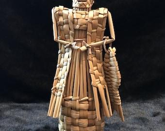 Wicker, Woven Statue, Aztec Fisherman, Aztec, Wicker Man with Fish, Wicker Statue, Wicker, Woven Fisherman, Fisherman, Wicker Fisherman