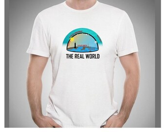 Flat earh society  conspiracy theory The real world  men t shirt
