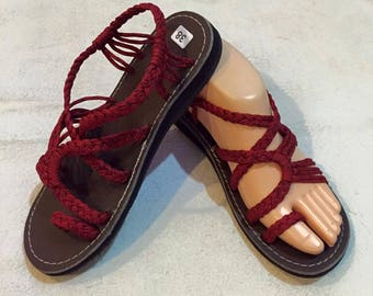 Handmade Sandals - red