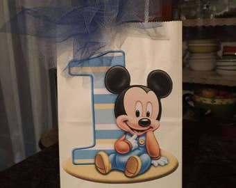 Baby Mickey Mouse Party Favor Bags
