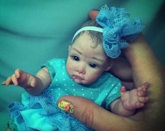 Polymer OOAK Baby Christina 8.6 in. anatomical handmade by V.Vihareva-Pechenkina