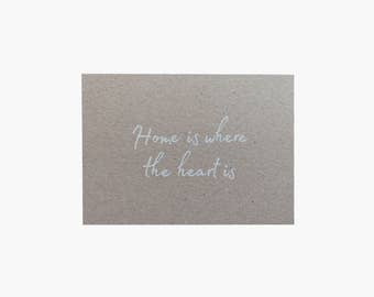 Home map is where the heart is - postcard - greeting card