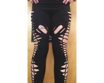Fire Safe Slit Weave Cutout Leggings