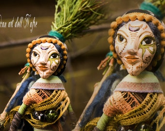 Wiccan Art Doll style  Egyptian inspired Nafre Goddess Doll