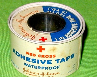 Red Cross adhesive tape vintage tin case waterproof rare medical collectible vintage