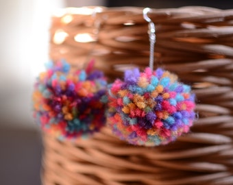Hand Made Pom Poms-Colorful