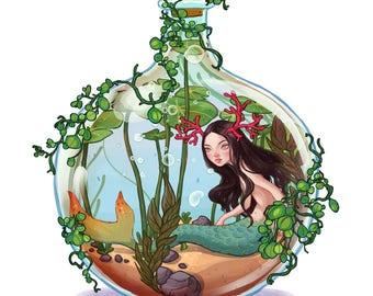 Mermaid Plant Terrarium