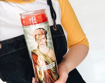Saint Bowie | David Bowie Prayer Candle