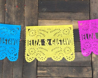 Personalized Papel picado wedding