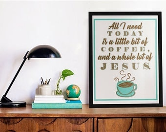 "8""x10"" Coffee & Jesus Print"