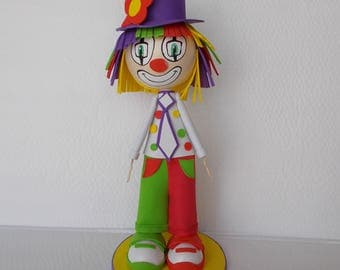 Clown doll fofuchas handmade