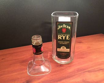 Jim Beam Rye Whiskey Bottle Soy Candle.750ML. Made To Order !!!!!!!