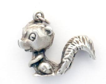 Silver Squirrel Charm 3D and Darling