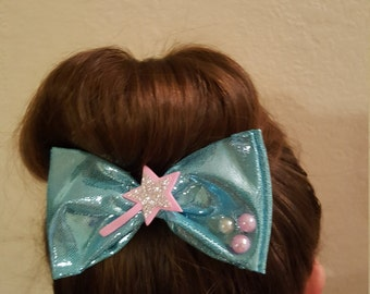 Handmade Cinderella fairy godmother inspired bow