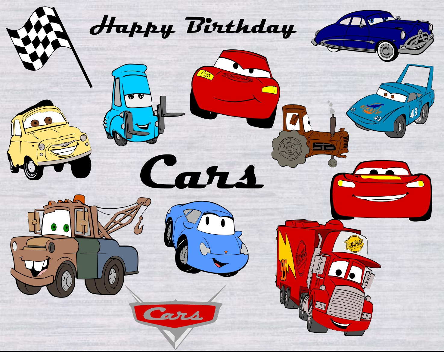 Cars Svg Bundle Cars Clipart Lightning Mcqueen Svg Tow
