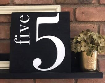 Family Number Sign   Gallery Wall Sign   Custom Sign