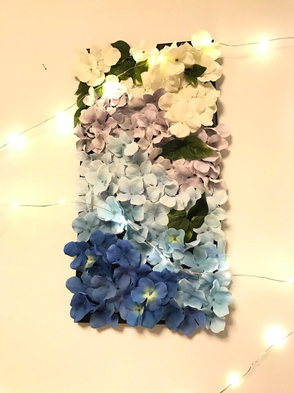 Blue Hydrangea Gradient Wallflower, Wall Decor, Wall Art, Flower ...