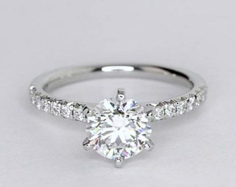 1.16ct Total weight Platinum Engagement Ring