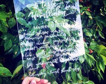 Custom Perspex / Acrylic Event Signage