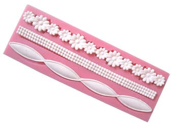 Flower Bead Chain Border Mold