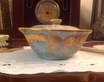 Stangl Antique Gold Covered Dish