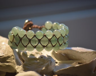 Jade Bracelet (Triple Wide)