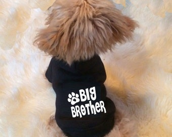 big brother, announcement hoody, new baby, dog hoody/ sweater - Custom made dog clothing