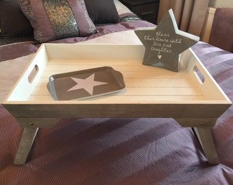 Folding Wooden Breakfast Tray