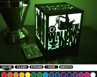 Walking dead, Walking dead color nightlight, color lantern, color led nightlight, color led lantern, wood nightlight, wood lantern, WD-2