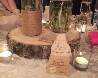 Wood Disks for Wedding/Event Center Pieces