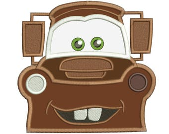 Mater Cars Embroidery Applique Design