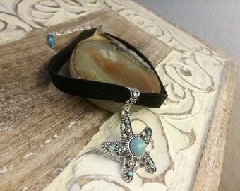 Starfish Choker, Starfish Necklace, Starfish Jewelry, Silver Starfish, Starfish Charm, Statement Necklace Wife, Wife Jewelry Ideas