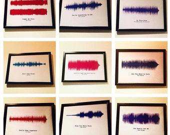Personalised soundwave print