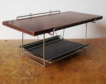 Exceptional luxury letter and paper tray from the 50s and 60s. Original mid century Office Accessories. Vintage desk document storage.